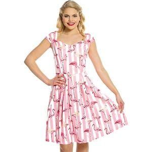 Lindy Bop Nadia Flamingo 50s Swing Dress